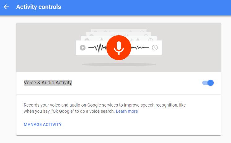 recording activity control